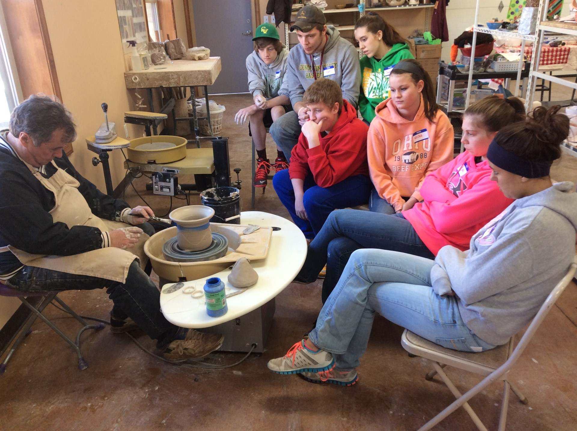 CVHS Art Students received the opportunity to work with Bill Shryock of the Tuscarawas Center for the Arts and their 'state of the art' clay studio in April.