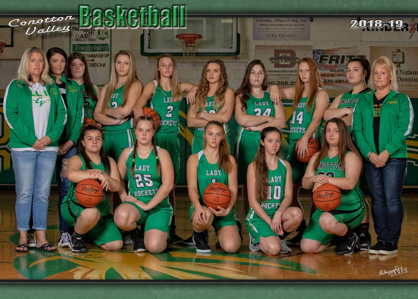 2018-2019 Girls Varsity Team